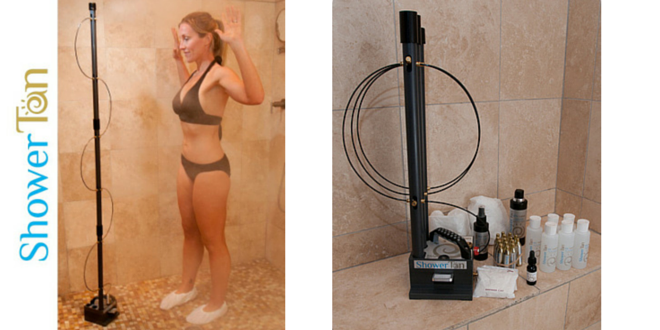 Showertan Home Hands Free Spray Tan System All Things Tanning For Tan Fans