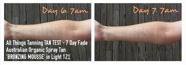 TAN TEST - Australian Organic Spray Tan Bronzing Mousse Light
