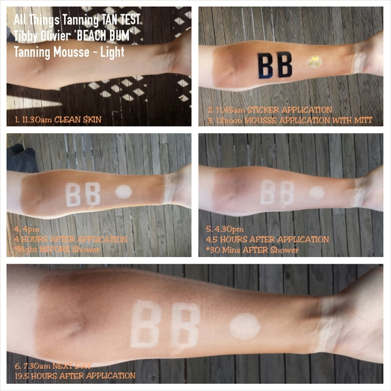 TAN TEST - Tibby Olivier Beach Bum Mousse