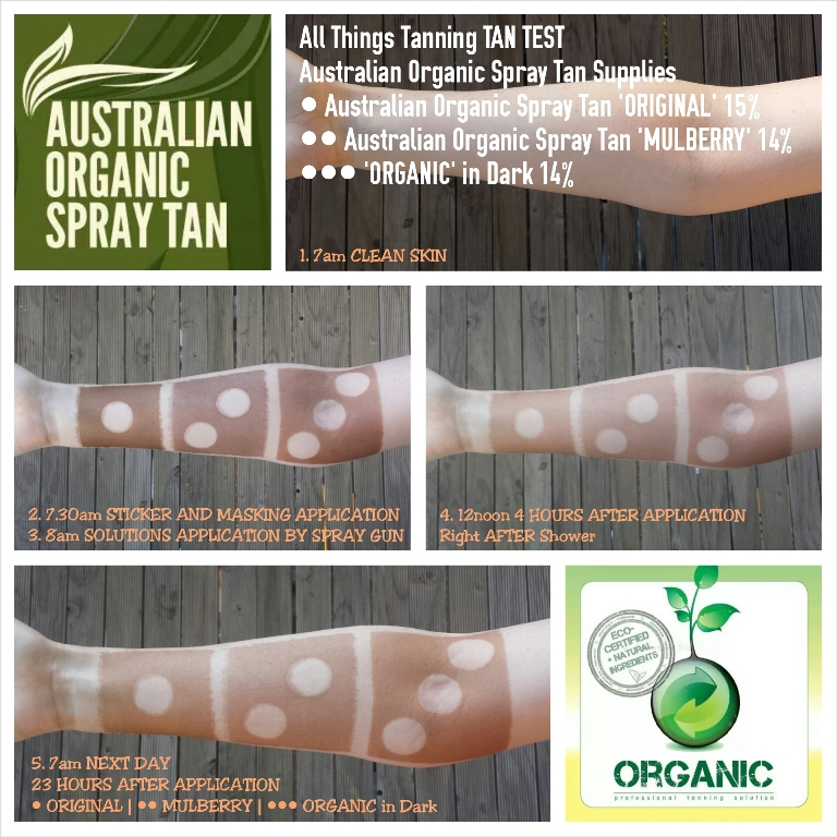 TAN TEST - Australian Organic Spray Tan Original, Mulberry, Organic