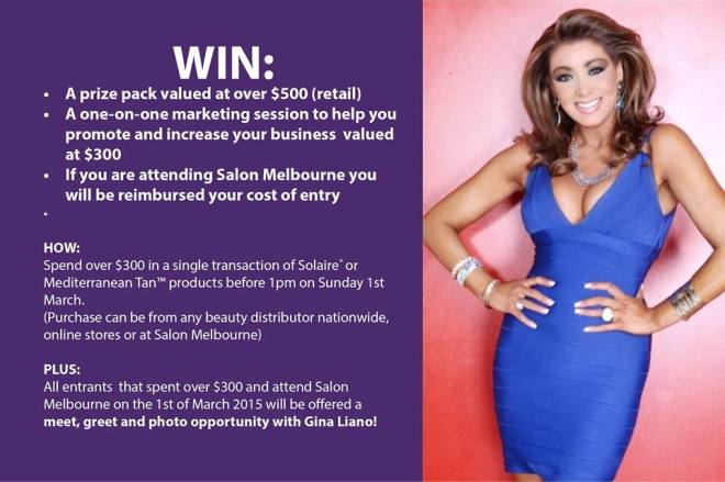 Mediterranean Tan, Wax & Beauty - Gina Liano Appearing At Salon Melbourne