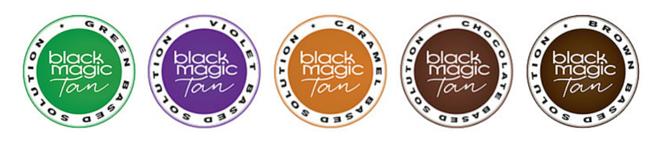 Black Magic Tan Base Colour Logos