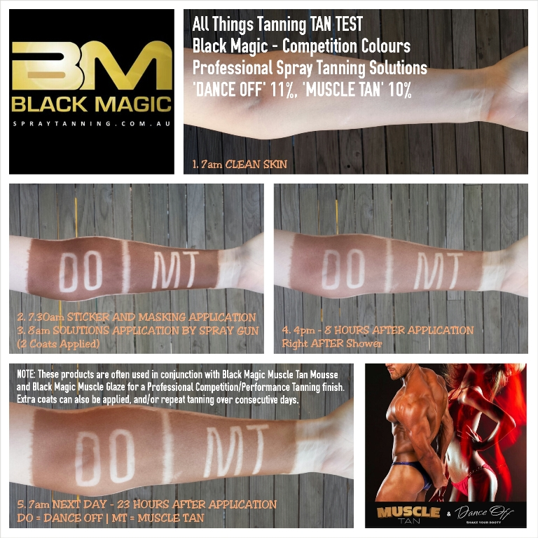 Black Magic Dance Off And Muscle Tan - Application