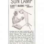 Vintage Sun Lamp Advertisements