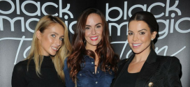 Stars Of Real Housewives Of Cheshire And Hollyoaks Sparkle At Tanning Launch